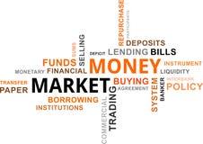 Nuvola di parola - mercato monetario Fotografia Stock