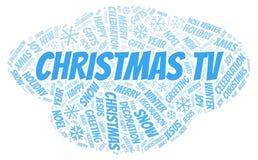 Nuvola di parola di Natale TV illustrazione vettoriale