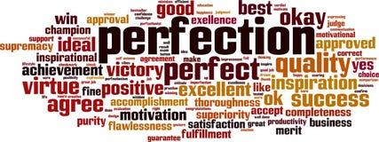 Nuvola di parola di perfezione illustrazione di stock