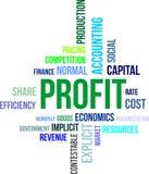 Nuvola di parola - profitto Immagine Stock