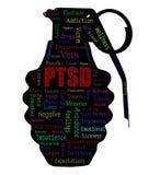 Nuvola di parola di PTSD immagine stock libera da diritti