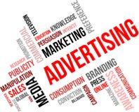 Nuvola di parola - pubblicità Immagine Stock