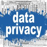 Nuvola di parola di segretezza di dati illustrazione di stock