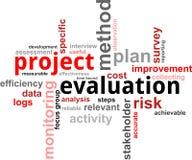 Nuvola di parola - valutazione di progetto illustrazione vettoriale