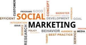 Nuvola di parola - vendita sociale Immagine Stock