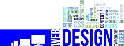 Nuvola di parola - web design Fotografia Stock Libera da Diritti