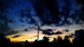 Nuvola di sera Immagine Stock Libera da Diritti