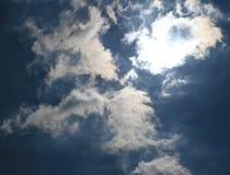 Nuvola di Sun Immagini Stock