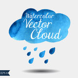 Nuvola di vettore dell'acquerello Immagini Stock