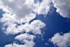 Nuvola e cielo Fotografia Stock