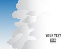 Nuvola e cielo blu con spazio per testo illustrazione di stock