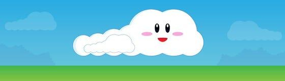 Nuvola e cielo felici illustrazione di stock