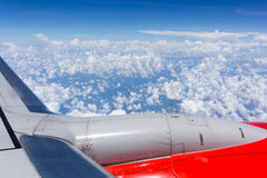 Nuvola e cielo guardati dall'aeroplano Fotografia Stock Libera da Diritti