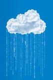 Nuvola e codice binario, concetto di calcolo della nuvola Fotografia Stock Libera da Diritti