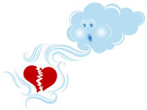 Nuvola e cuore Fotografia Stock