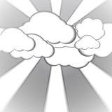 Nuvola e fondo di carta nebbioso di stile illustrazione di stock