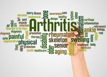 Nuvola e mano di parola di artrite con il concetto dell'indicatore royalty illustrazione gratis