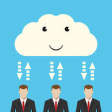 Nuvola ed uomini d'affari Fotografia Stock Libera da Diritti