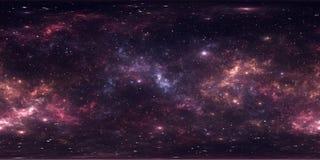 Nuvola interstellare del fondo profondo dello spazio cosmico della polvere e del gas con le stelle Nebulosa dello spazio Panorama royalty illustrazione gratis