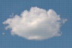 Nuvola lanuginosa bianca dai piccoli punti Immagini Stock