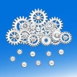 Nuvola meccanica degli ingranaggi Immagini Stock Libere da Diritti