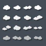 Nuvola nel fondo grigio Immagini Stock