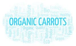 Nuvola organica di parola delle carote illustrazione di stock