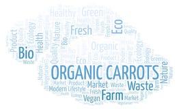Nuvola organica di parola delle carote royalty illustrazione gratis