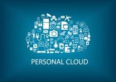 Nuvola personale che computa per i servizi di automazione della casa Immagini Stock Libere da Diritti