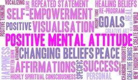 Nuvola positiva di parola di atteggiamento mentale illustrazione vettoriale