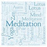 Nuvola quadrata di parola di meditazione illustrazione di stock