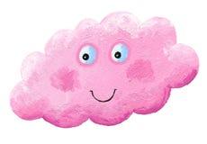 Nuvola rosa felice sveglia royalty illustrazione gratis