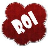 Nuvola rossa del modello con il testo di ROI scritto su  Fotografia Stock Libera da Diritti