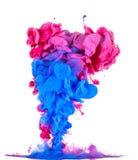 Nuvola rossa e blu astratta della pittura Fotografia Stock Libera da Diritti