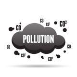 Nuvola scura di inquinamento Fotografie Stock Libere da Diritti