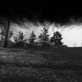 Nuvola scura fra noi Immagini Stock