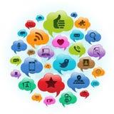 Nuvola sociale di media Illustrazione di Stock
