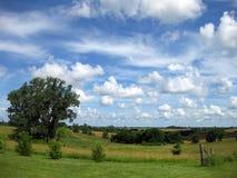 Nuvola sparsa cielo blu Immagine Stock Libera da Diritti