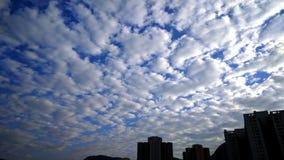 Nuvola stupefacente del cotone nel primo mattino immagine stock libera da diritti