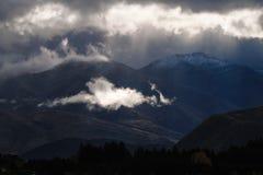 Nuvola su fuoco fotografia stock libera da diritti