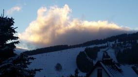 Nuvola su fuoco Immagini Stock Libere da Diritti