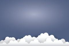 Nuvola su stile blu scuro di arte del documento introduttivo illustrat Fotografie Stock