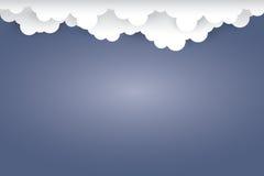 Nuvola su stile blu scuro di arte del documento introduttivo Vettore Fotografie Stock Libere da Diritti