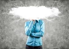 Nuvola su una testa Immagine Stock Libera da Diritti