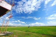Nuvola sul cielo Immagine Stock
