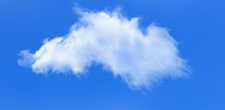 Nuvola sul fondo del cielo blu Fotografie Stock Libere da Diritti
