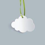 Nuvola sul nastro verde Illustrazione di Stock