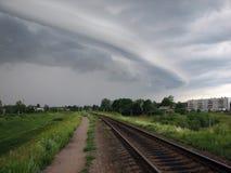 Nuvola temporalesca Immagine Stock