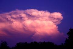 Nuvola temporalesca Immagini Stock