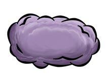 Nuvola temporalesca divertente Fotografia Stock